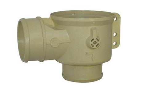 Корпус дренажного клапана AuK Muller DN50, патрубок / патрубок