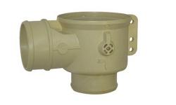Корпус дренажного клапана Muller DN50, патрубок / патрубок